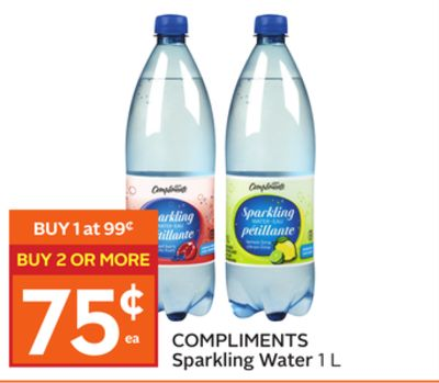 Compliments Sparkling Water
