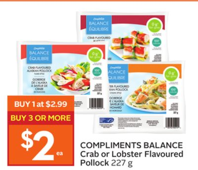 Compliments Balance Crab or Lobster Flavoured Pollock