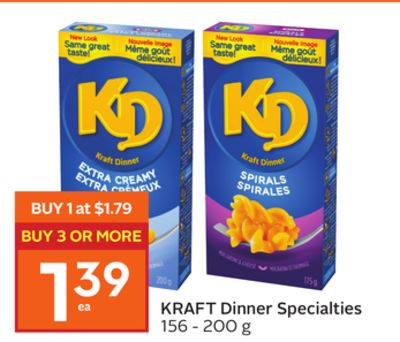 Kraft Dinner Specialties