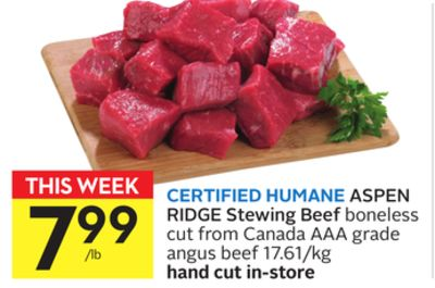Certified Humane Aspen Ridge Stewing Beef