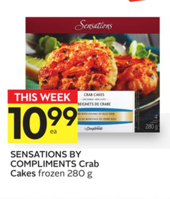 Sensations By Compliments Crab Cakes