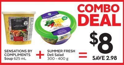 Sensations By Compliments Soup 625 mL - Summer Fresh Deli Salad 300 - 400 g