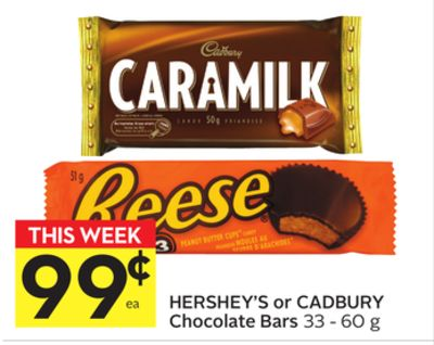 Hershey's or Cadbury Chocolate Bars
