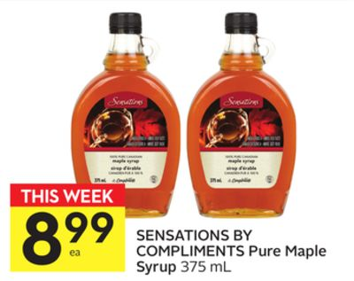 Sensations By Compliments Pure Maple Syrup