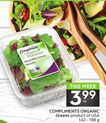 Compliments Organic Greens