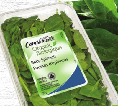 Compliments Organic Baby Greens or Baby Spinach