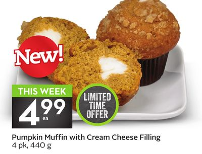 Pumpkin Muffin With Cream Cheese Filling