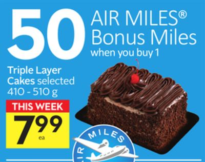 Triple Layer Cakes - 50 Air Miles Bonus Miles