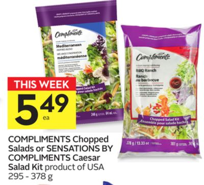 Compliments Chopped Salads or Sensations By Compliments Caesar Salad Kit