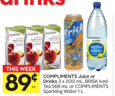Compliments Juice or Drinks