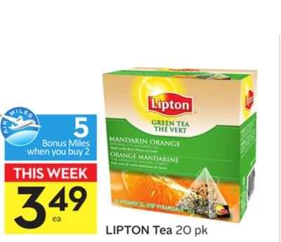 Lipton Tea-5 Air Miles