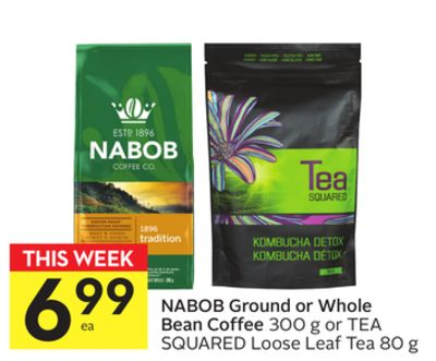 Nabob Ground or Whole Bean Coffee