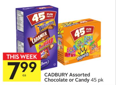 Cadbury Assorted Chocolate or Candy