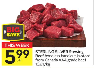 Sterling Silver Stewing Beef