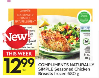 Compliments Naturally Simple Seasoned Chicken Breasts
