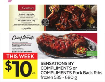Sensations By Compliments or Compliments Pork Back Ribs