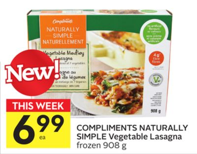 Compliments Naturally Simple Vegetable Lasagna