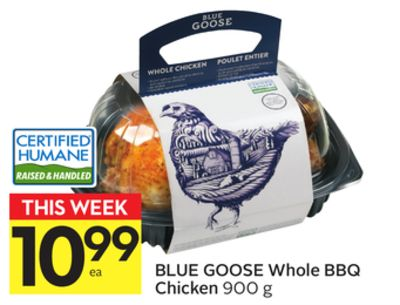Blue Goose Whole Bbq Chicken