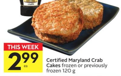 Certified Maryland Crab Cakes