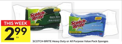 Scotch-brite Heavy Duty or All Purpose Value Pack Sponges