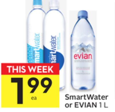 Smartwater or Evian