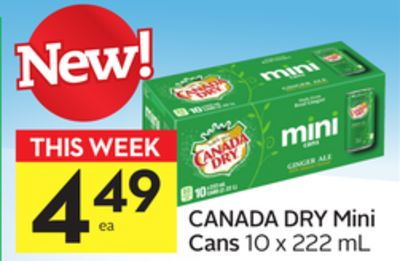 Canada Dry Mini Cans
