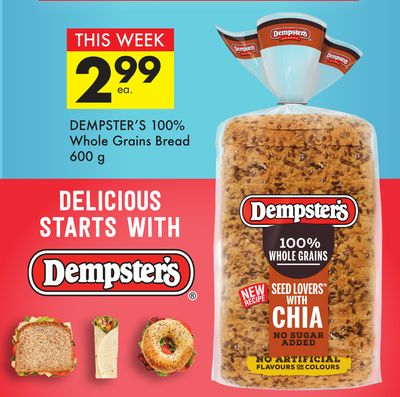 Dempster's 100% Whole Grains Bread
