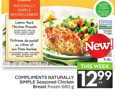 Compliments Naturally Simple Seasoned Chicken Breast