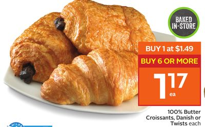 100% Butter Croissants - Danish or Twists