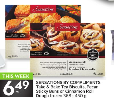 Sensations By Compliments Take & Bake Tea Biscuits - Pecan Sticky Buns or Cinnamon Roll Dough
