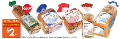 Compliments Breads - Bagels - Hot Dog or Hamburger Buns