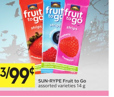 Sun rype fruit to go coupons