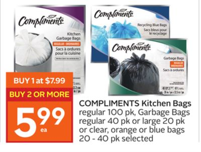 Compliments Kitchen Bags
