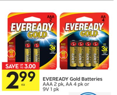 Eveready Gold Batteries