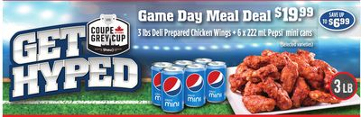 Game Day Meal Deal