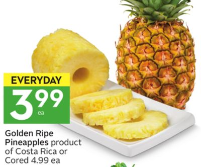 Golden Ripe Pineapples