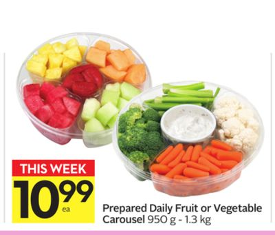 Prepared Daily Fruit or Vegetable Carousel