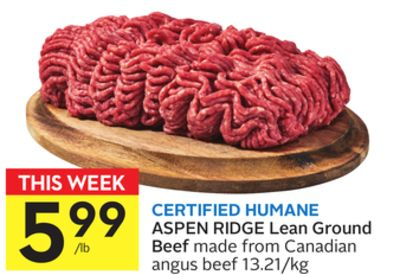 Certified Humane Aspen Ridge Lean Ground Beef