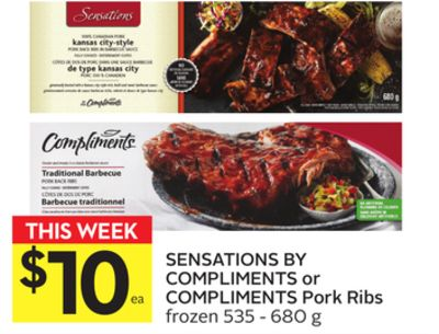 Sensations By Compliments or Compliments Pork Ribs