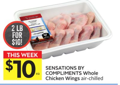 Sensations By Compliments Whole Chicken Wings
