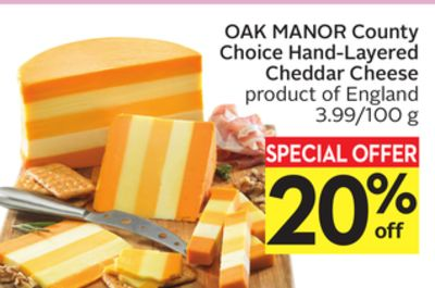 Oak Manor County Choice Hand-layered Cheddar Cheese