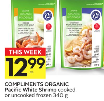 Compliments Organic Pacific White Shrimp