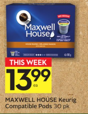 Maxwell House Keurig Compatible Pods