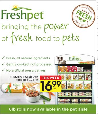 Freshpet Adult Dog Food Roll
