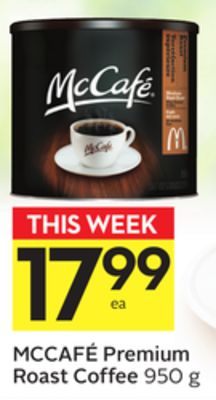 Mccafé Premium Roast Coffee 20 Air Miles Bonus Miles