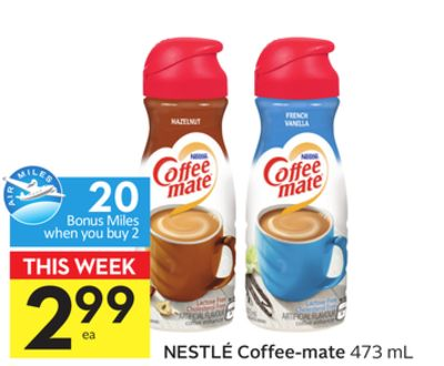 Nestlé Coffee-mate - 20 Air Miles Bonus Miles