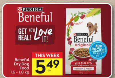 Purina Beneful Dry Dog Food 50 Airmiles