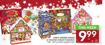 Lindt - Kinder - Reese or Smarties Advent Calendars