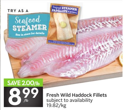 Fresh Wild Haddock Fillets