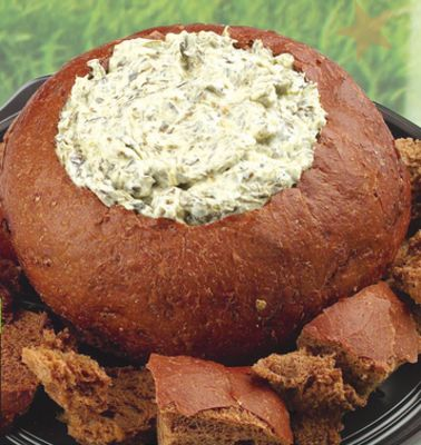 Pumpernickel & Spinach Dip Tray